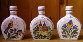 Habán pálinkás butélia (tornyos-virágos) 31011