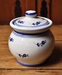 Kék virágos cukortartó 3107