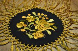 Matyó kör alátét arany 4302